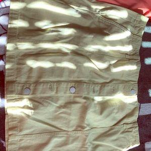 Yellow Denim Skirt